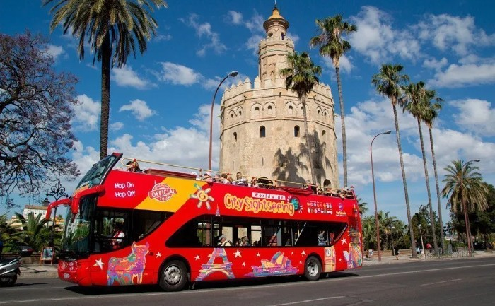Autobus turístico por Sevilla